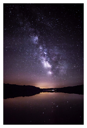 Milky Way Over Lake Geode