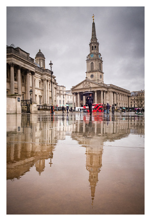 London Reflections - St Martin-in-the-Field at Trafalgar Square
