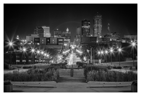 After Midnight - Downtown Des Moines, Iowa
